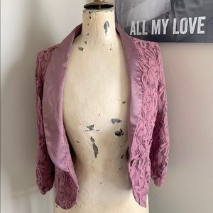 Purple Lace Blazer